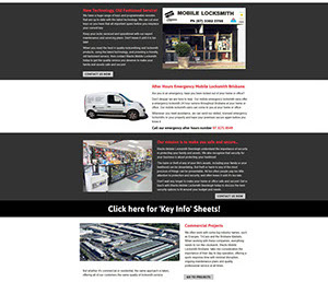 The Corporate ID Agency designed a 32 page website for Blacks Locksmith incorporating a catalogue, blog & security information tip sheets.