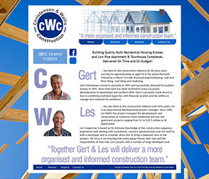 The Corporate ID Agency designed a quick four page website for CW Construction to demonstrate their building services.